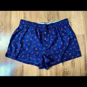 EUC VS Pink cherry boxer sleep shorts